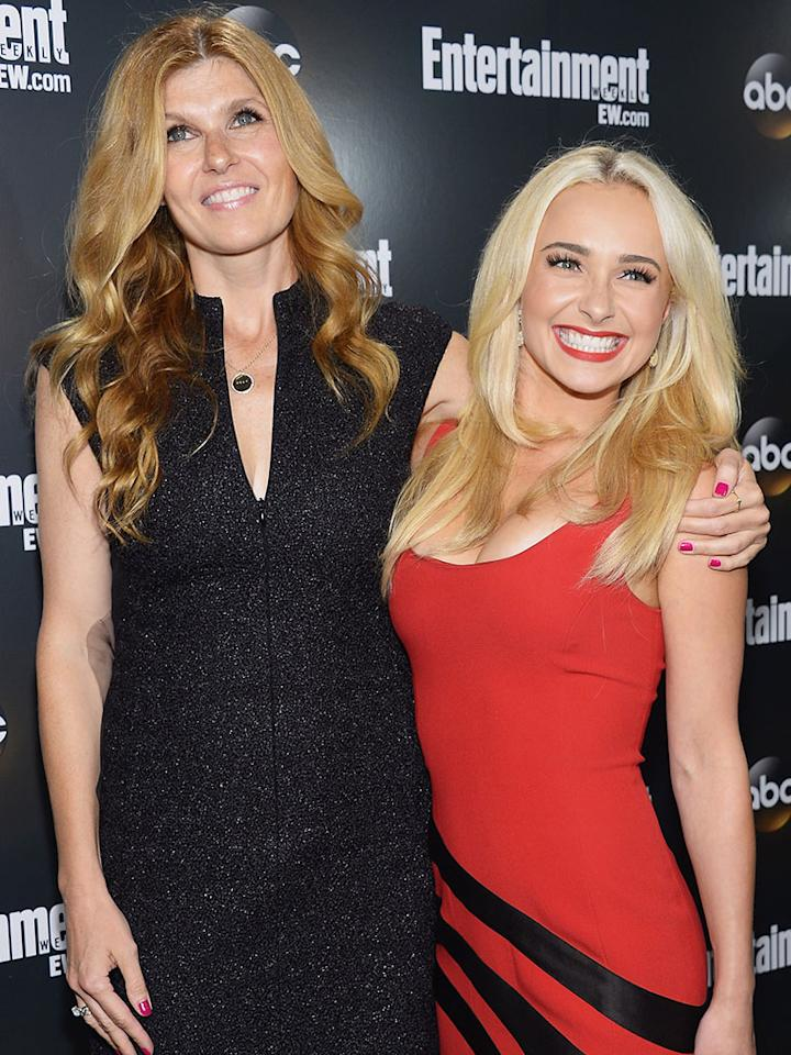 """""""<a href=""""http://tv.yahoo.com/shows/nashville/"""">Nashville</a>"""" stars Connie Britton and Hayden Panettiere are guests of ABC/ABC News."""