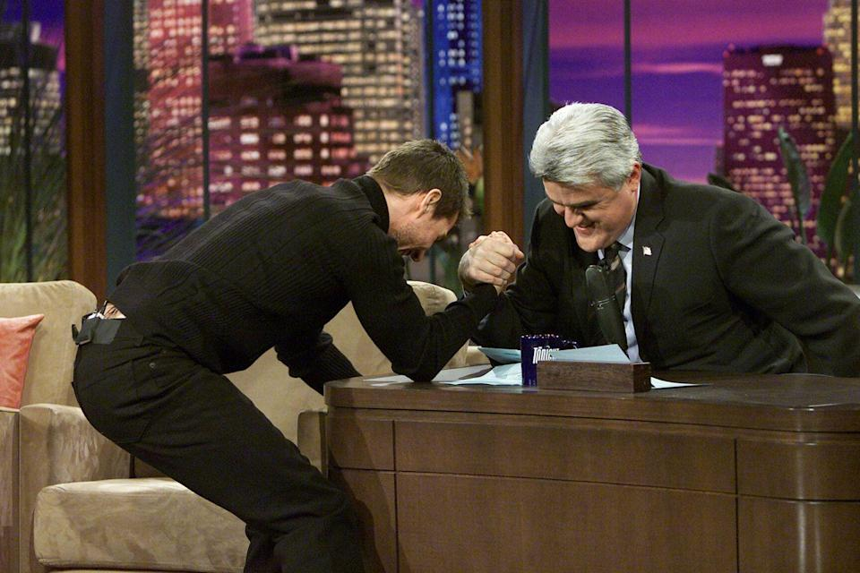 <p>Arm wrestling Leno. Hell yeah. </p>