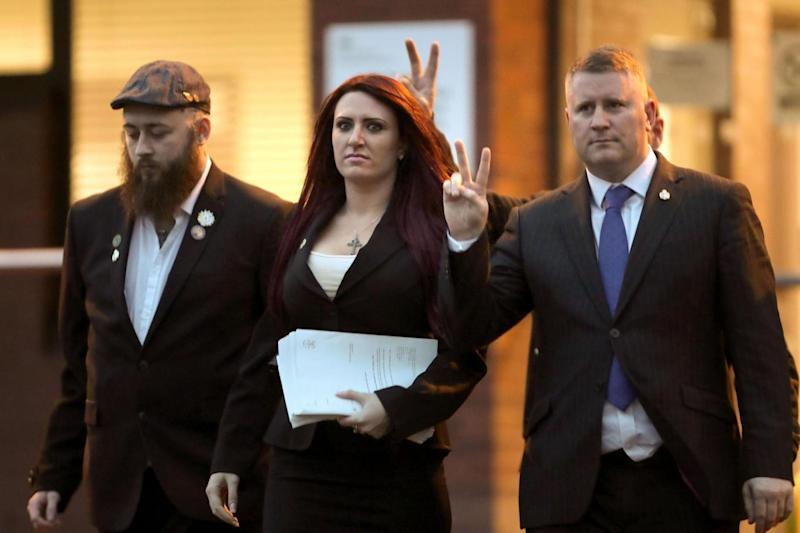 Golding and Fransen were found guilty of religiously aggravated harassment (PA)