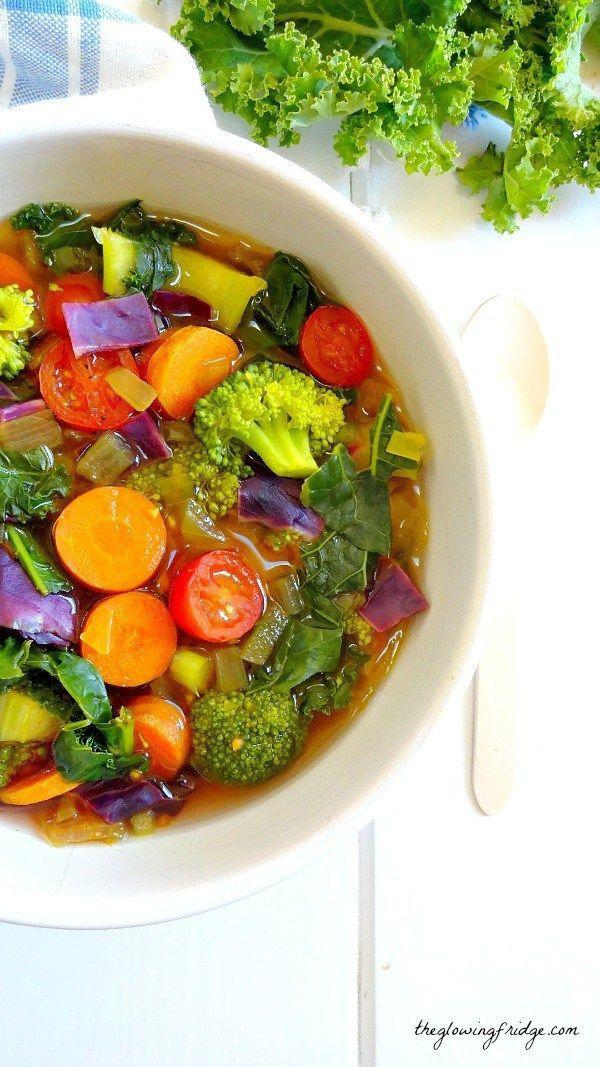 """<p>Soup cleanses beat juice cleanses any day.</p><p>Get the recipe from <a href=""""http://www.theglowingfridge.com/cleansing-detox-soup/"""" rel=""""nofollow noopener"""" target=""""_blank"""" data-ylk=""""slk:The Glowing Fridge"""" class=""""link rapid-noclick-resp"""">The Glowing Fridge</a>.</p>"""