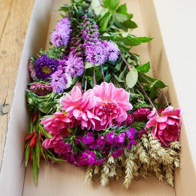 Box-cut British flowers, £39, Great British Florist