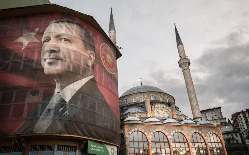 The face of Recep Tayyip Erdogan covers Turkish cities and towns - Credit: Alexandra R Howland