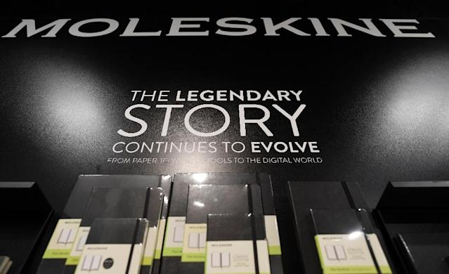 From its launch as a brand in 1997, under then-owner Milanese publisher Modo & Modo, Moleskine has claimed to have revived the classic notebook (AFP Photo/TIZIANA FABI)