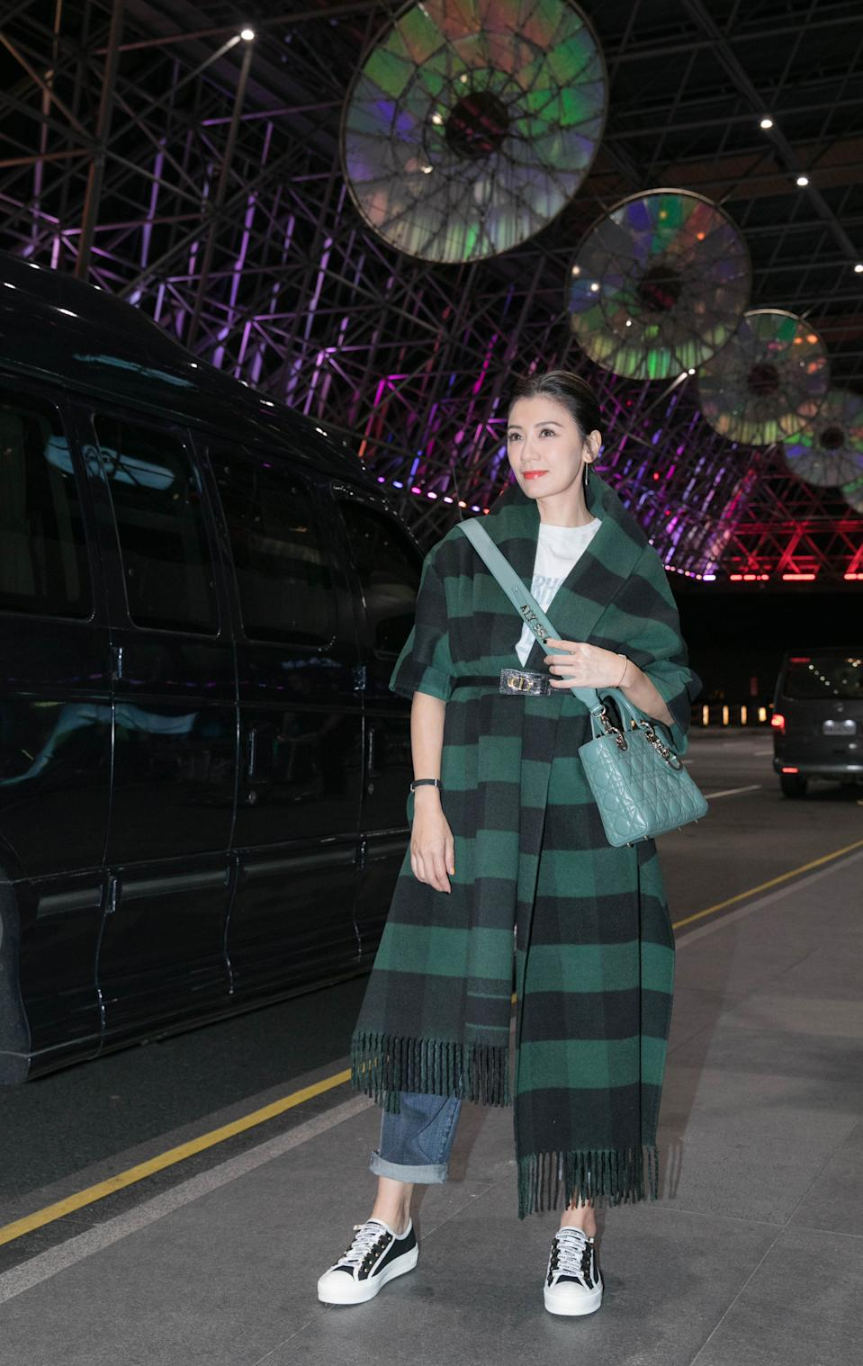 Taiwanese actress Alyssa Chia (@alyssachia) wearing Dior outfits, Walk'n'Dior sneakers, My ABCDior bag and Rose des vents fine jewelry pieces and a La D de Dior watch. (PHOTO: Dior)