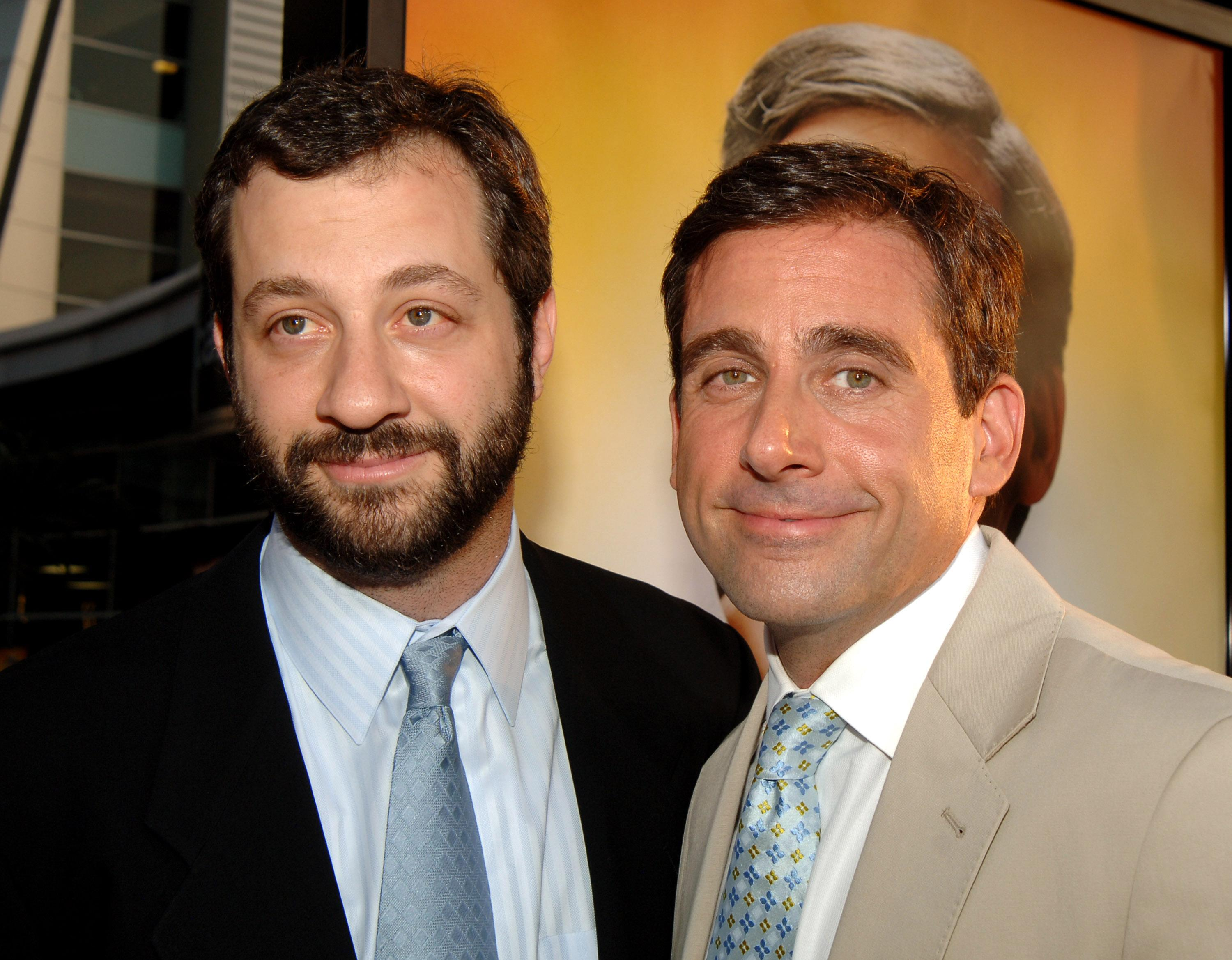 Judd Apatow, director, and Steve Carell (Photo by John Sciulli/WireImage)