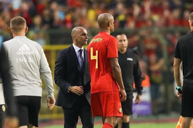 Vincent Kompany came off hurt in Belgium's friendly against Portugal two weeks ago (AFP Photo/BRUNO FAHY)