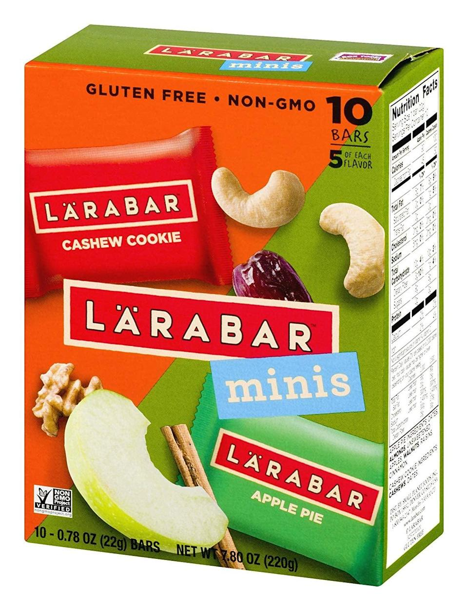 <p>This <span>Larabar Minis Variety Pack</span> ($5) is the perfect bite of goodness. They're so yummy, even your non-Paleo friends will want a taste.</p>