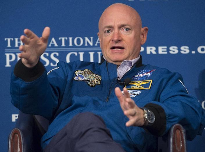 Former NASA astronaut Mark Kelly is running for the US Senate seat from Arizona once held by John McCain (AFP Photo/SAUL LOEB)