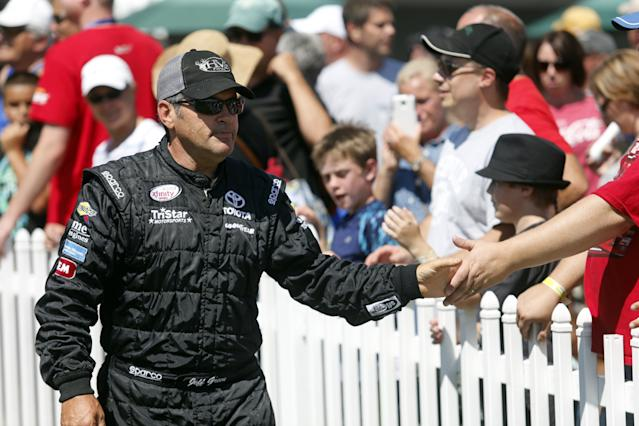 Jeff Green is still competing in the Xfinity Series. (AP)