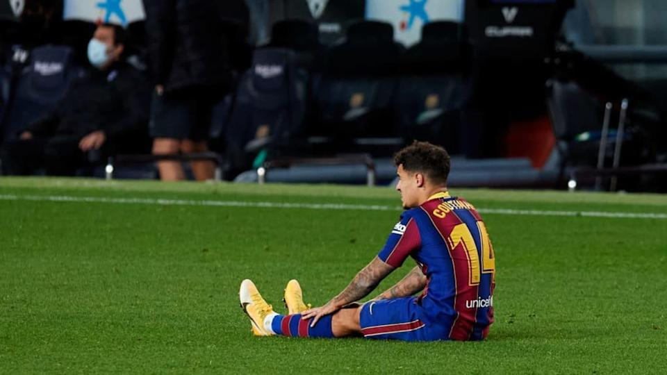Coutinho e o seu futuro incerto no Barcelona. | Alex Caparros/Getty Images