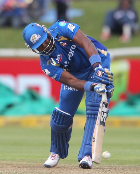CAPE TOWN, SOUTH AFRCA - OCTOBER 18:  Dwayne Smith of the Mumbai Indians during the Karbonn Smart CLT20 match between Mumbai Indians (IPL) and Yorkshire (England) at Sahara Park Newlands on October 18, 2012 in Cape Town, South Africa. (Photo by Carl Fourie / Gallo Images /Getty Images)