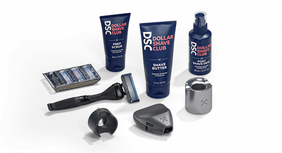 """<h3><strong><h2>Dollar Shave Club</h2></strong></h3><br><strong>Grooming Subscription</strong><br>Dad's with strong beard games will cherish this subscription set tailored to his specific grooming routine and preferences via either a one-off gift box or recurring monthly shipments — each package is filled with all the essentials from shaving cream to razors, handles, deodorant, face to body wash, and more.<br><br><em>Shop <strong><a href=""""https://www.dollarshaveclub.com/gift/sets"""" rel=""""nofollow noopener"""" target=""""_blank"""" data-ylk=""""slk:Dollar Shave Club"""" class=""""link rapid-noclick-resp"""">Dollar Shave Club</a></strong></em><br><br><strong>Dollar Shave Club</strong> Super Ultimate Shave Gift Set, $, available at <a href=""""https://go.skimresources.com/?id=30283X879131&url=https%3A%2F%2Fwww.dollarshaveclub.com%2Fgift%2Fsets%2Fsuper-ult-gift-set-2021"""" rel=""""nofollow noopener"""" target=""""_blank"""" data-ylk=""""slk:Dollar Shave Club"""" class=""""link rapid-noclick-resp"""">Dollar Shave Club</a>"""