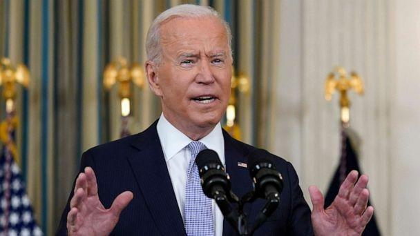 PHOTO: President Joe Biden speaks about the COVID-19 response and vaccinations in the State Dining Room of the White House, Sept. 24, 2021, in Washington. (Patrick Semansky/AP)