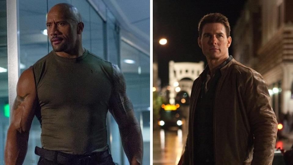 Could The Rock have been Jack Reacher instead of Tom Cruise? (Credit: Universal/Paramount)