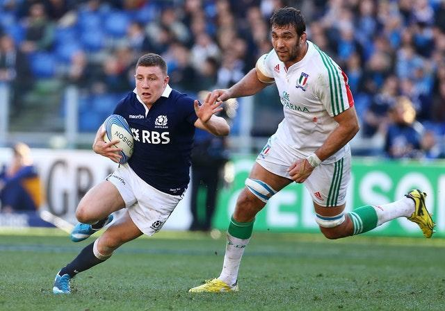 Weir in action for Scotland in Italy in 2014