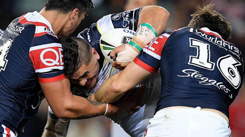 Sharks lure promising Cowboys forward Uele to Sydney. Pic: AAP