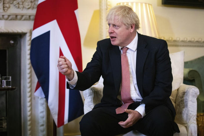 Boris Johnson underlined that a deal was better for both sides. Photo: Aaron Chown/Pool Photo via AP