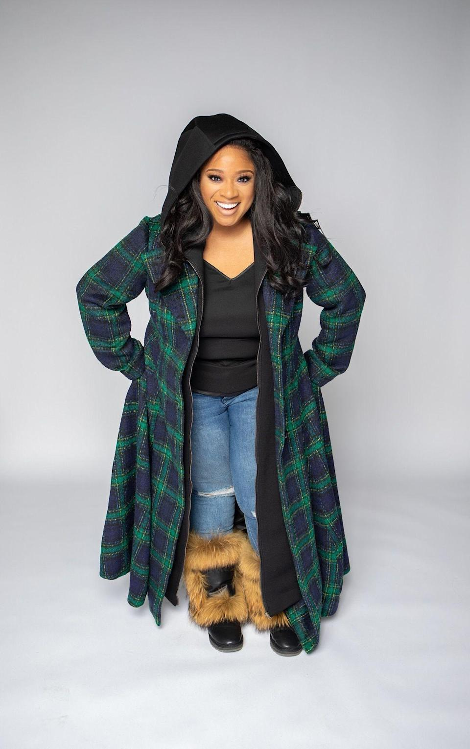 """<p><strong>Eleven60</strong></p><p>myeleven60.com</p><p><strong>$395.00</strong></p><p><a href=""""https://myeleven60.com/product/j-trench-coat-plaid/"""" rel=""""nofollow noopener"""" target=""""_blank"""" data-ylk=""""slk:SHOP NOW"""" class=""""link rapid-noclick-resp"""">SHOP NOW</a></p><p>This plaid coat is the ultimate overachiever: It's colorful yet super wearable (thanks to shades of deep blue and green); it's cool yet practical (thanks to its hood and double layers); and it works equally great for day and night (thanks to its floor length).</p>"""