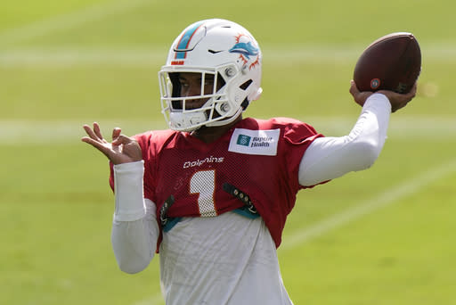 Miami's Flores says Tua isn't ready to assume starting role