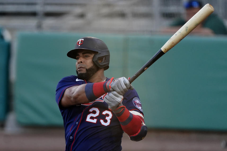 Minnesota Twins designated hitter Nelson Cruz (23)