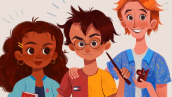 An illustrator has shut down racist internet trolls who bombarded her with abuse after she depicted Harry Potter character Hermione Granger as black.