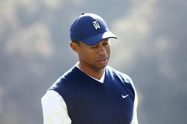 Tiger Woods struggled on the greens on the way to a five-over par 76 in the third round of the US PGA Tour Genesis Open at Riviera Country Club (AFP Photo/Tim Bradbury)
