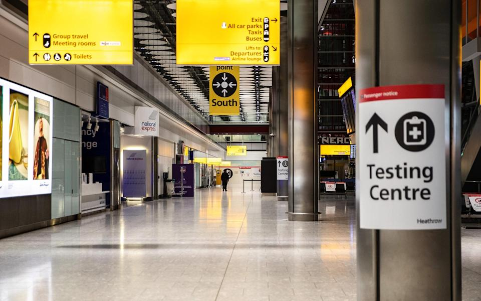 A sign of the times at Heathrow Arrivals - Getty
