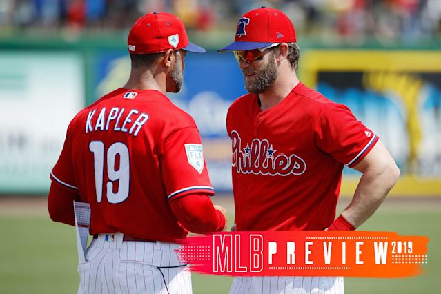 The Phillies did well adding Bryce Harper, but who else has a case for best offseason? Our crew examines. (Getty Images)
