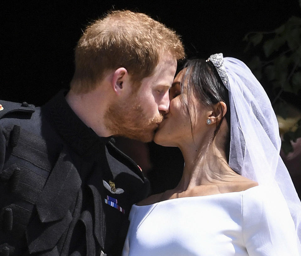 January 9th 2020 - Prince Harry The Duke of Sussex and Duchess Meghan of Sussex intend to step back their duties and responsibilities as senior members of the British Royal Family. - File Photo by: zz/KGC-107/STAR MAX/IPx 2018 5/19/18 Prince Harry The Duke of Sussex and Meghan Markle The Duchess of Sussex - man and wife - at their wedding ceremony held at St. George's Chapel on the grounds of Windsor Castle. (Windsor, England, UK)