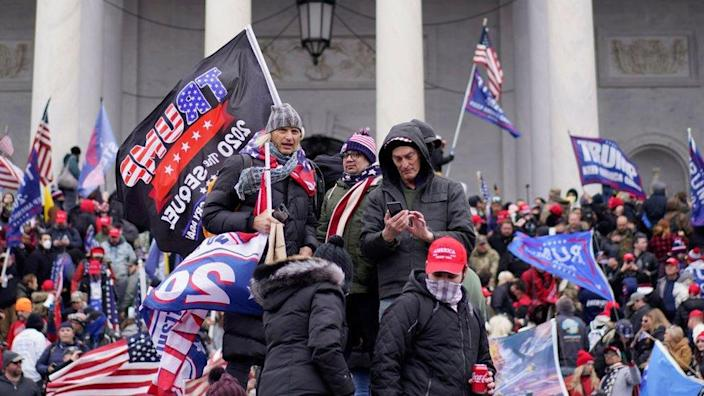 Trump supporters outside the Capitol