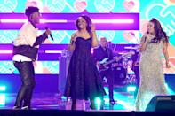"""<p>Mickey Guyton was joined by Gladys Knight and BRELAND for a performance of """"Friendship Train,"""" which earned the three a standing ovation. </p>"""