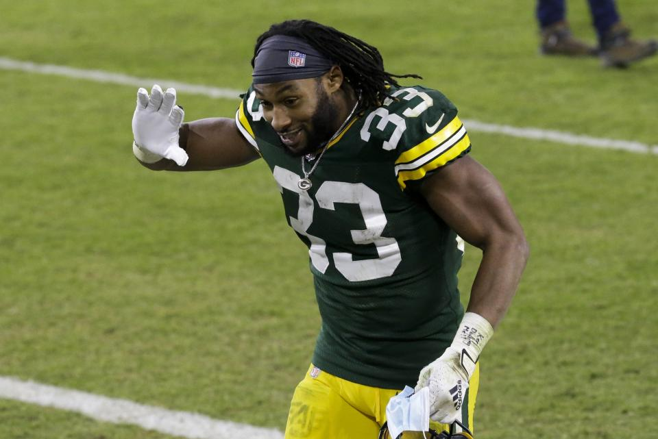 Green Bay Packers' Aaron Jones
