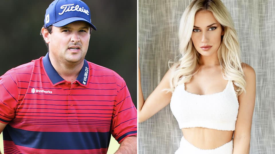 Pictured here, American golfers Patrick Reed and Paige Spiranac.