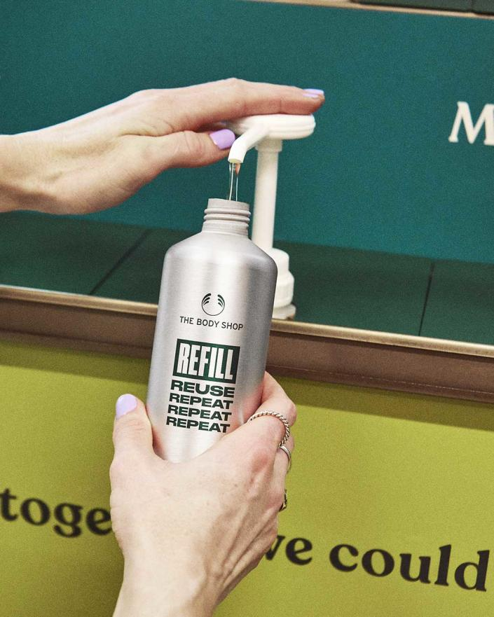 The Body Shop's in-store recycling scheme Return, Recycle, Repeat (RRR). (PHOTO: The Body Shop)