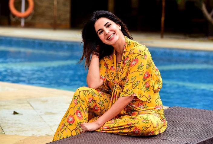 Bollywood actress Kirti Kulhari poses during the promotion of her upcoming drama Hindi film 'Mission Mangal' in Mumbai on August 7, 2019. (Photo by Sujit Jaiswal / AFP) (Photo by SUJIT JAISWAL/AFP via Getty Images)