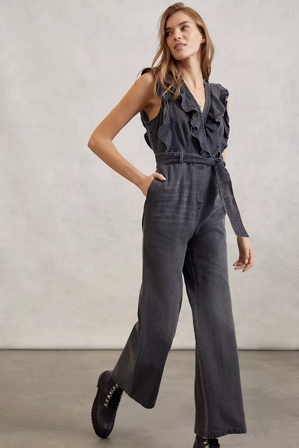 """<br><br><strong>Mare Mare</strong> Alena Ruffled Denim Jumpsuit, $, available at <a href=""""https://go.skimresources.com/?id=30283X879131&url=https%3A%2F%2Fwww.anthropologie.com%2Fshop%2Falena-ruffled-denim-jumpsuit%3Fcolor%3D004%26type%3DSTANDARD%26quantity%3D1"""" rel=""""nofollow noopener"""" target=""""_blank"""" data-ylk=""""slk:Anthropologie"""" class=""""link rapid-noclick-resp"""">Anthropologie</a>"""