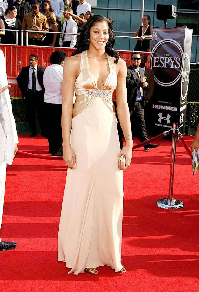 "WBNA star Candace Parker has the stature and the sass to pull of this dramatic dress. Jeffrey Mayer/<a href=""http://www.wireimage.com"" target=""new"">WireImage.com</a> - July 16, 2008"