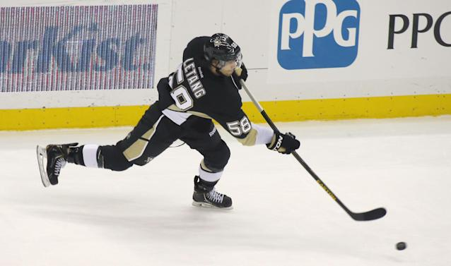 Penguins D Letang out with lower-body injury