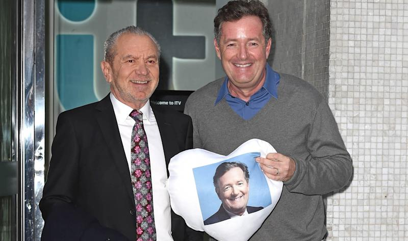 Lord Alan Sugar and Piers Morgan's friendship has turned sour amid the coronavirus pandemic. (AP)