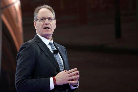 FILE PHOTO: Cadillac's de Nysschen speaks at the New York Auto Show in New York