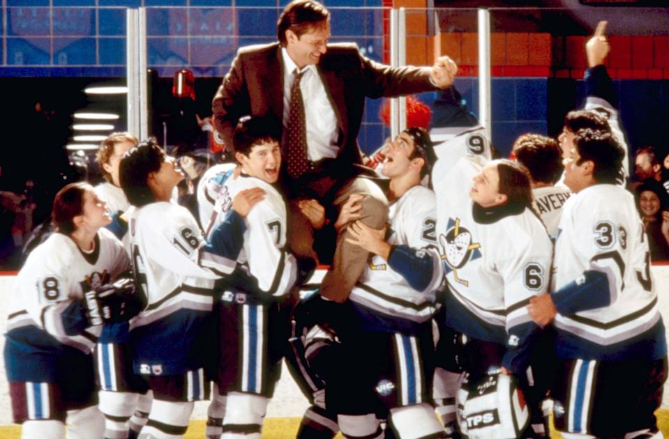 """<p><strong>HBO Max's Description:</strong> """"The Ducks are back and enrolled in a prep school with a prestigious hockey program and pretentious student body in this sequel.""""</p> <p><a href=""""https://play.hbomax.com/feature/urn:hbo:feature:GXArrTwoEGIa1vAEAAAHy"""" class=""""link rapid-noclick-resp"""" rel=""""nofollow noopener"""" target=""""_blank"""" data-ylk=""""slk:Watch D3: The Mighty Ducks on HBO Max here!"""">Watch <strong>D3: The Mighty Ducks</strong> on HBO Max here!</a></p>"""