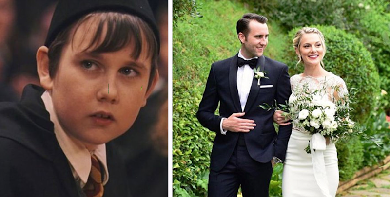 Harry Potter star Matthew Lewis marries girlfriend Angela Jones