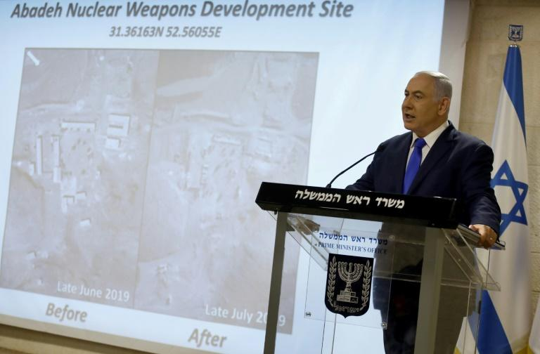 Israeli Prime Minister Benjamin Netanyahu accuses Iran of having a previously undisclosed site aimed at developing nuclear weapons that it destroyed once the facility was detected