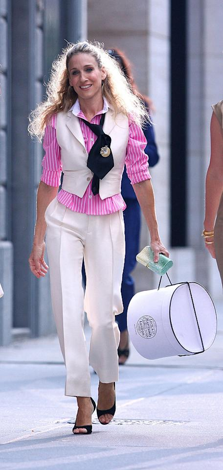 15. The fashions found in the first feature film aren't nearly as memorable as the ones seen on the show. However, the fabulousness of this cream-colored Ralph Lauren suit, which Carrie sports in the movie's opening sequence, is unfathomable.