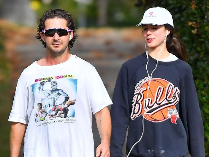 shia labeouf and margaret qualley december 2020