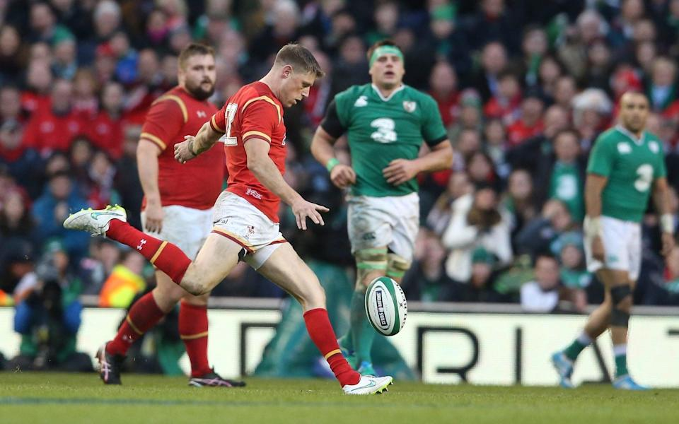 Priestland playing for Wales in 2016 - he has won 50 caps for his country - GETTY IMAGES