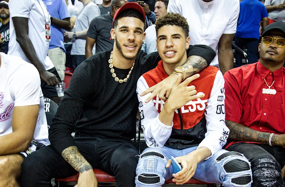 Lonzo and LaMelo Ball will face each other for the first time as NBA players. (Cassy Athena/Getty Images)