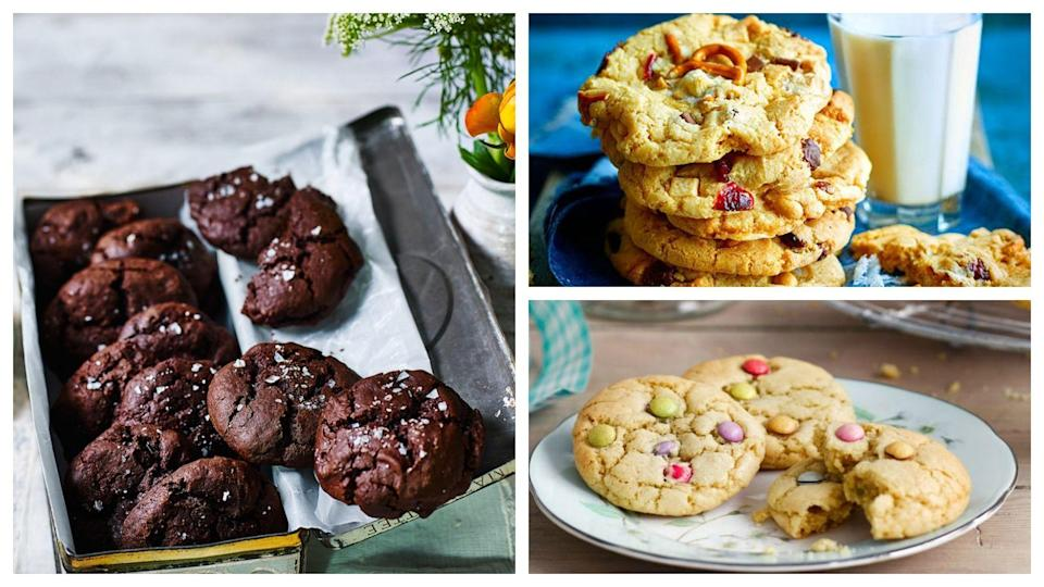"""<p>If you want to know how to make your very own homemade biscuits, here are our favourite biscuit and cookie recipes to try.</p><p>We have the easiest three-ingredient cookie recipes such as our <a href=""""https://www.goodhousekeeping.com/uk/food/recipes/a33543216/3-ingredient-nutella-sandwich-cookies/"""" rel=""""nofollow noopener"""" target=""""_blank"""" data-ylk=""""slk:Nutella sandwich cookies"""" class=""""link rapid-noclick-resp"""">Nutella sandwich cookies</a> and our <a href=""""https://www.goodhousekeeping.com/uk/food/recipes/a26942826/peanut-butter-cookies/"""" rel=""""nofollow noopener"""" target=""""_blank"""" data-ylk=""""slk:classic peanut butter cookies"""" class=""""link rapid-noclick-resp"""">classic peanut butter cookies</a>.</p><p>Or if you fancy something a little more ambitions we have a set of giant classic biscuits from a <a href=""""https://www.goodhousekeeping.com/uk/food/recipes/a29828503/giant-jammy-dodger/"""" rel=""""nofollow noopener"""" target=""""_blank"""" data-ylk=""""slk:giant jammy dodger"""" class=""""link rapid-noclick-resp"""">giant jammy dodger</a> to a <a href=""""https://www.goodhousekeeping.com/uk/food/recipes/a29812422/giant-custard-cream/"""" rel=""""nofollow noopener"""" target=""""_blank"""" data-ylk=""""slk:giant custard cream"""" class=""""link rapid-noclick-resp"""">giant custard cream</a>.</p>"""