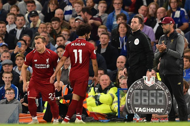 Cameos from Daniel Sturridge and Xherdan Shaqiri (above) have excited Liverpool fans this season: AFP/Getty Images/Glynn Kirk