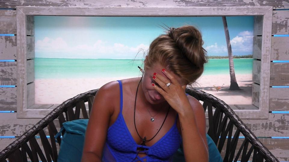 Dani Dyer was left n tears after being shown a clip of Jack and his ex. (REX)